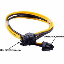 Mini 6pin to 6pin PCIe PCI-e Video Card Power Cable for Apple Power Mac G5 35CM