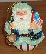 "Roly Poly Santa 3.25"" figurine Christmas Ornament by Roman Inc. w/Box 1993"