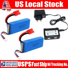 Spare Parts of Syma X8C X8W X8G 2PCS 7.4V 2500mAh Battery Sets+ Balance Charger