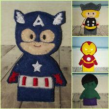 Handmade Finger Puppets - Captain America / Thor / Hulk / Ironman - THE AVENGERS