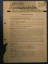 Grundig Reparaturhelfer Music Transistor Boy 59 1959  H10777