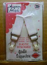 Vintage GARTERS Suspender CLIPS GARTER BELTS Girdles CORSETS Nylon STOCKINGS #3