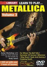 Lick Library LEARN TO PLAY METALLICA Volume 3 Metal Guitar Lessons Video DVD NEW