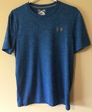 Under Armour Loose Heat Gear Youth Small SM/P/P Blue T Shirt