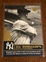 2009 Upper Deck SPx Baseball Career Highlights #15 - Joe DiMaggio - Yankees