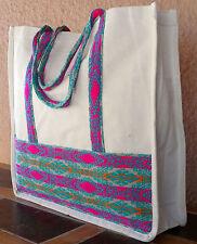 Canvas Shopping Bag Tote 2-HIGuat4 XL Guatemalan Designs Purse