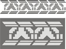 Malerschablone Wandschablonen Schablone Stupfschablonen Dekorfries Ethnomuster 4