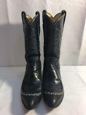 Vintage Blue Tony Lama Boots Black Label Size 8A.
