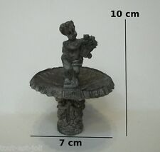 fontaine pour jardin miniature, maison de poupée,vitrine,décor ange,fontein  M3