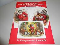 1985 Dover Thomas Nast 24 Ready For Mail Christmas Cards Reproduction Book