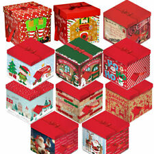 Quality Christmas Eve Gift Box Large Xmas Present Wrapping Boxes Red Ribbon Lids