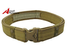 """2"""" Tactical Outdoor Airsoft Security SWAT Police Utility Nylon Duty Belt Khaki"""