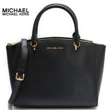 NWT Michael Kors Ellis Large Satchel Leather Black 35H7GE0S3L Crossbody Belt
