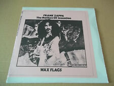 Frank Zappa  - Wax Flags rare live double LP UCLA 77 not tmoq RE SEALED
