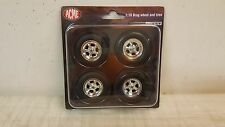 ACME 1:18 CRAGAR DRAG WHEEL AND TIRE SET - CHROME - A1806702W