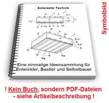 Solarzelle selbst bauen - Solarzellen Solar Technik Patente Patentschriften