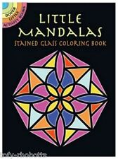 Coloring Book Page For Adult Mandalas Stained Glass Dover Little Activity Books
