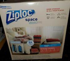 ZIPLOC SPACE BAG Vacuum Seal 12 Pack Variety Set X-Large X Large Medium Travel