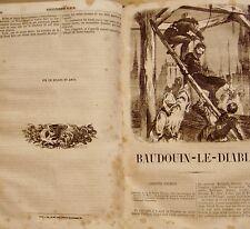 DELVAU Alfred - BIBLIOTHEQUE BLEUE - CHEVALIERS DU MOYEN-AGE - 1859