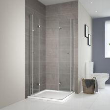Duschkabine 90x70 Falttür Dusche Eckeinstieg Echtglas Duschabtrennung Duschwand