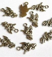 PACK OF 10 TIBETAN SILVER CHERUB CHARMS  - 17  x 10mm.....................C038 *