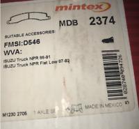 Mintex Disc Brake Pad Set - MDB2374 - Fits Chev, GMC, Isuzu - Front