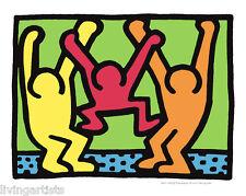 Keith Haring MODERN FAMILY 11x14 Giclee Pop Art Print **SALE
