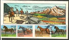 US Collins FDC SC#2155-2158 Horses