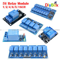 1/2/4/6/8/16 Channel 5V Relay Board Module Optocoupler LED For Arduino ARM PIC