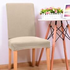 Thicken Stretch Dining Room Chair Cover Slipcover Stool Protector - Beige