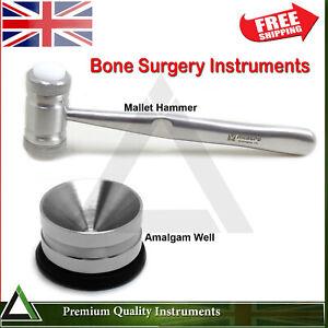 Dental Implant Surgical Bone Mallet Hammer Amalgam Well Pot Surgery Instruments