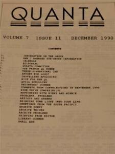 Sinclair QL QUANTA Magazine ~ december 1990 ~ Computer Articles ~ VOL 7 ISS 11