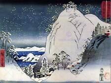 UTAGAWA HIROSHIGE JAPANESE POSTER SHRINES IN SNOWY MOUNTAINS ART PRINT 2710OM