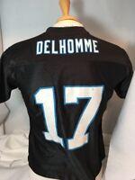 REEBOK JAKE DELHOMME #17 CAROLINA PANTHERS BLACK NFL JERSEY YOUTH SMALL