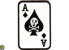 "Ace Of Spades with Skull Iron On PATCH - 2"" x 3"" Free Shipping Biker P2020"