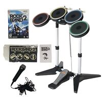 Brand NEW Wii Harmonix Rock Band Drum Set NWDMS2 Bundle With Game And Box!!!