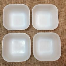 Set of 4 Vintage FIRE KING Square Refrigerator Bowl Dishes 4''
