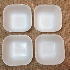 Set of 4 Vintage FIRE KING Square Refrigerator Bowl Dishes 4''