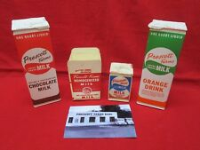 4 Vintage PRESCOTT FARMS LOCAL FRESH MILK dairy cartons Orange Chocolate Arizona