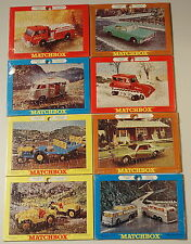 DTE SET OF 8 1969 LESNEY MATCHBOX REGULAR WHEELS 5 X 7 JIG SAW PUZZLES