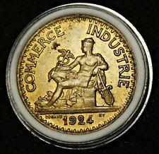 "2 Francs Chambres de Commerce - 1924 (""4"" fermé) - TTB/SUP"