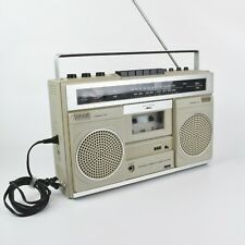 Vintage Montgomery Ward Model 3981-A Boom Box Portable Cassette Stereo System