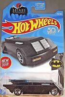 2018 Hot Wheels #256 Batman 3/5 BATMAN : THE ANIMATED SERIES Black w/5 Spoke Whl