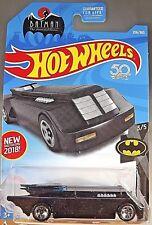 2018 Hot Wheels #256 Batman 3/5 BATMAN : THE ANIMATED SERIES Black w/5 spoke