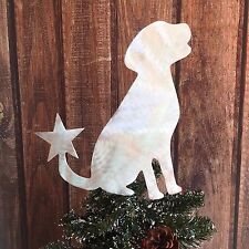 Labrador Retriever, Lab, Star, Dog Christmas Tree Topper, Wreath Decor, Holiday