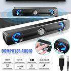 Powered Computer Soundbar RGB LED Stereo Wired Speaker For PC Desktop Laptop set