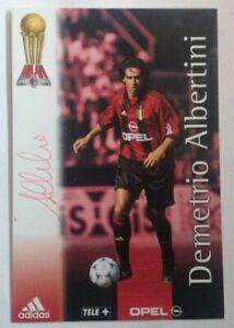 FOOTBALL CALCIO AC MILAN cartolina Albertini con autografo originale
