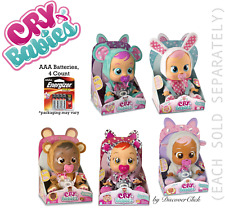 NEW Cry Babies LAMMY LALA CONEY BONNIE LEA Baby Doll Girls Toy or AAA Batteries