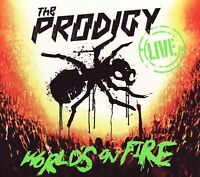 THE PRODIGY Live - World's On Fire CD+DVD hardback digipak NEW/SEALED Worlds