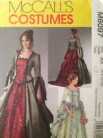 McCalls Sewing Pattern 6097 Misses Ladies Victorian Costume Size 6-12 Uncut